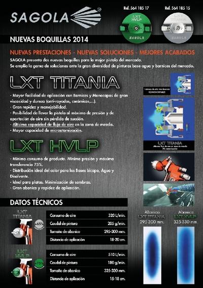 Boquillas LXT TITANIA y LXT HVLP