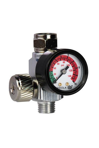 Flow regulator with pressure gauge RC2